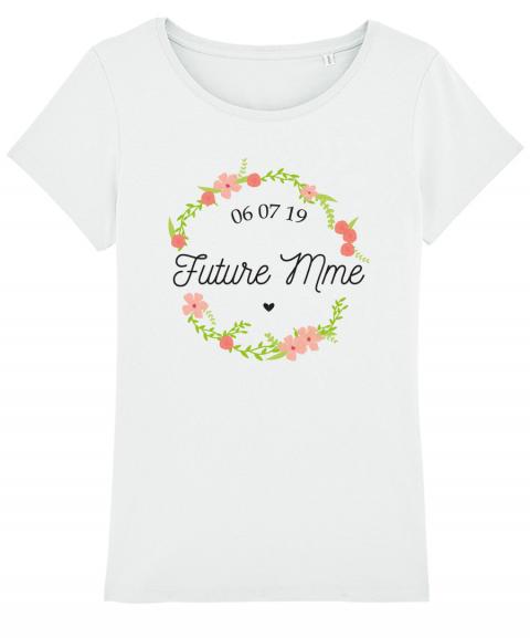 Future Mme Fleurs Tee Shirt Femme Personnalisable I Marié Dans L Année