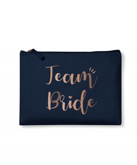 Team Bride - Pochette or rose