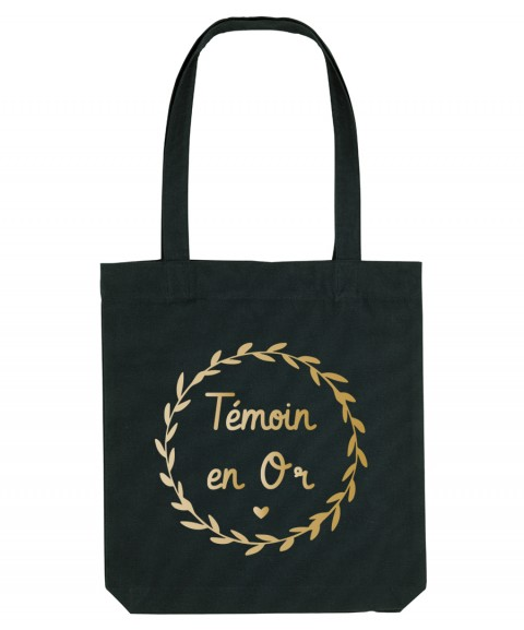 Tote Bag témoin en or
