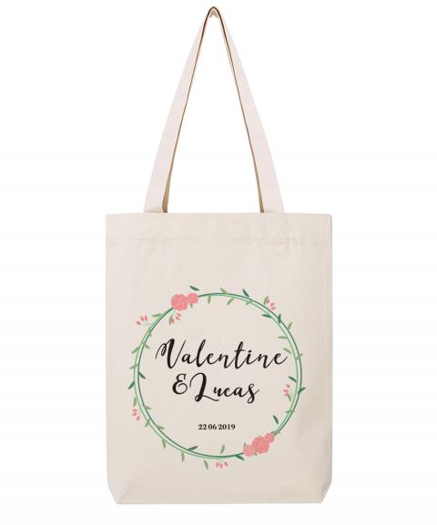 Duo Prénoms fleurs - Tote bag